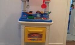 Little tikes play kitchen with accessories for sale. Serious inquiries only. This ad will be removed when item sold. The price is firm. THE NON SERIOUS DO NOT CONTACT