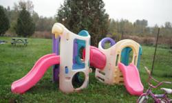 A used little tikes play structure, a step 2 sandbox play centre. And a plastic turtle sandbox. Asking $100 for all included. Prefer phone calls, dont check email often.