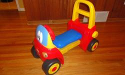 Little Tikes My First Coze Coupe Walker ride on toy. Barely ever used, still have original box available too if wanted to give as gift. Great toy to help starting the walking and ability to ride on as well. Like new, from a smoke free home   Please see