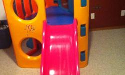 Like new. Slide and fort never been out side all ways inside in mint condition This ad was posted with the Kijiji Classifieds app.