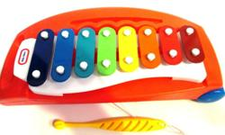 B10 Little Tikes Red Pull along Toy Tap-A-Tune Xylophone Piano with Rainbow Keys Includes Yellow Mallet MANUFACTURER RECOMMENDS THIS TOY FOR ALL CHILDREN SIX MONTHS OF AGE AND UP. It is like-new and barely used Very clean Works Perfect! Excellent