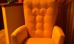 newer recovered chair. rarely used. Swivel rocker in very good condition. light beige in colour. asking $50.