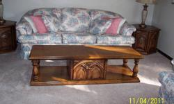 Solid wood living room tables, 1 coffee table, 2 end tables and 1 smaller end table.  Need them gone.  Please call 519-583-2937.