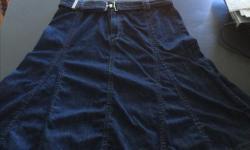Liz Claiborne - Ladies jean skirt - knee length, size 12.