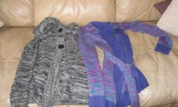 2 Girls Long-Sweaters Size 10/12 Include: 1) Black/White Fleck Sweater Brand - NEVADA 2) Blue/Purple Fleck Sweater Brand - GEORGE ONLY $5 each AWESOME PRICE Can meet in west end of ottawa (kanata) or pickup in Constance Bay