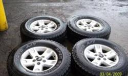 "We are looking for a set of 17"" rims and tires for our 2000 ford F150 4X4 they are 5 bolt 5X135mm. Ford says any from 1997-2003 ford F150 or 1997-2002 Ford Expedition will fit. Please call 1-306-625-3973. We need rims and rubber for the 17"" tires. Thank"