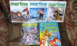 LOT 5 Livres Martine A La Ferme Martine en voyage Martine à la Montagne Martine est malade Collection Farandole CASTERMAN Marcel Marlier G. Delahaye En bon état d'occasion Parus dans les années 80 Marcel Marlier et Gilbert Delahaye Martine, numéro 1 :