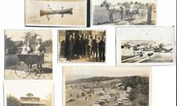 """Lot of 164 vintage black & white photos - most are from 1940s, some date date to the turn of the century and the newest one is 1967. The majority of the photos are 4"""" x 6"""" or smaller and several have the date written in pencil on the back. Almost all the"""