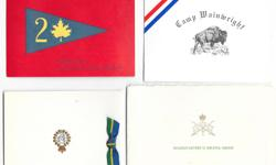 Giant lot of 80 Canadian Army Christmas cards from the early 1960's + late 1950's. These elaborate Christmas cards came with ribbon on the outside and on some of them photos on the inside. There are cards from across Canada including: Prairie Command,