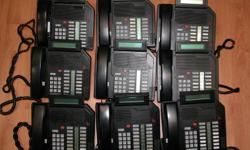 Lot of 9 Nortel Meridian M2616 Telephone Used - working (This price for 9 units)   This listing is for a Nortel/Norstar Meridian M2616 phone with LCD display, black in color. It is in good condition, removed from a working environment after an upgrade,