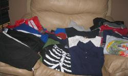 lot of boys size 7/8 Includes: 1 long-sleeve shirt with collar 4 hoodies 5 pull-overs 1 light jacket 5 sweatshirts with hoods 14 long-sleeve tops 2 jogging pants 2 pairs of pants 1 sweater Get ALL 35 items for ONLY $75 works out to be $2.14 per item