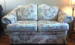 Lightly used love seat with solid, comfortable support and a floral pattern. No rips, tears or stains. Buyer must be able to pick up.