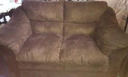 Chocolate micro-suede. Both in great shape. Great for smaller living rooms. Call Jeff 905-512-1157. $200 for both pieces This ad was posted with the Kijiji Classifieds app.