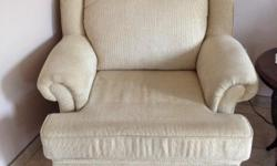 Decor Rest loveseat and chair. Recently replaced cushion foam with extra firm materials... Very comfortable. Moving, no space.