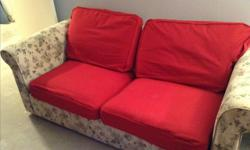 Good condition, opens to double bed. Removable washable Covers on cushions and arms. Mattress used only a couple of times. Pick up only. Clean, smoke free home.