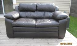 brown love seat good condition