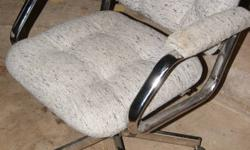 Low back swivel desk chair heavy duty cloth cover 2 to choose from $10. OBO