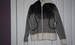 Fur lined hoodie. Fits Size 12. Cozy warm! Great for these fall days. Smoke free home.