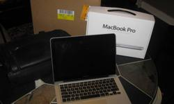 """Hi, got this as a Christmas gift, not a mac fan and i need the money for school. Specs are: MacBook Pro 13"""" LED Core i5 2.4ghz 4 gig ram 500gb UPGRADED HARD DRIVE New but opened with receipt.  Carrying case is included Please contact me anytime @ 647"""