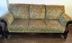 I purchased this set from Leon's two years ago, and I bought for $4000. I am moving and would like to sell, asking $1500 or best offer. It is in perfect conditions. It is a Lucky Bronze colour with five matching pillows. There are no rips or stains.