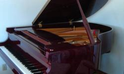 """Beautiful 5'8"""" Baldwin grand piano with bench. 15 years old - one owner (piano teacher). New German hammers. Lovely touch and tone. Near Brandon,MB. $15,000 OBO phone 204-763-4489(Eleanor)"""