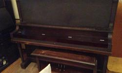 MENDELSSOHN PIANO CO TORONTO VERY GOOD CONDITION PLAYS WELL INCLUDES BENCH NEED 2 OR MORE PEOPLE TO MOVE THIS