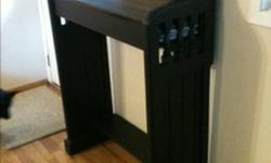 Custom-made, one of a kind standing desk with inside storage. Made using reclaimed wood from various sources including saloon doors (sides) and an old pine closet. Perfect as maitre D desk in your restaurant or front-door catch-all in your home. Little