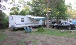 Mallard travel trailer Excellent cond. King bed sleeps six One pop out A.C. furnace, fridge, microwave, stove etc.