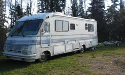 1990 class A 32 ft Mallard motorhome in great shape. Engine runs good.  Has new TV, DVD player, microwave, colored back up camera & wiring, coach batteries.  This unit has it all.   2 yrs ago I paid $17,500. Since then I've put another $5,000 into it to