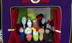 Great condition, portable puppet theatre with storage and a full cast of characters including The Royal Family, their Court Jester, Merlin, Zoro?, most of the Wild Kingdom, and the Swedish Chef just to name a few! Hours of Improv with this compact and