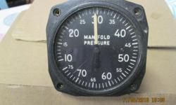Manifold pressure gauge for use with aircraft with constant speed propeller.