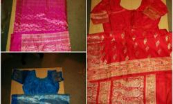I have many expensive silk saris some of which I wore only once for few hours but few I haven't worn because I never had any occasion to wear them. They all come with silk matching blouses and petticoats. Their prices vary from $150 to $250. I also have
