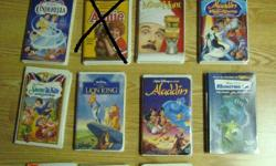 I have Many VHS movies English and French for sale! These are in excellent condition and would look great in your home or to give as a gift. I have the following titles for sale: English: * Caillou * Teletubbies * Black Stallion * Cinderella * Mouse Hunt