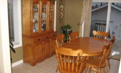 Maple dining set with 6 chairs.  Buffet and hutch included all in excellent condition. Asking 475 or best offer. Call 705 897-2159
