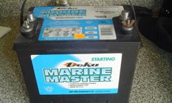 Brand new marine battery for sale. Never used. I bought it new but then sold the boat. Paid $99.00 plus taxes. It has 550 CCA (cold cranking amps). Could be used in a car as well i suppose. Asking 50.00. Call Dave in Port Dover at 519-583-0433.