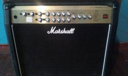 purchased 3 years ago, this top of the line Marshall amp has very little use on it as i discovered shortly after i bought it, i had no interest in learning how to play the guitar. comes with all the cords, pedal and authentic Marshall protective cover.