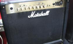 Marshall MG30FX guitar amp. Portability with the sound and name that is Legendary. Good condition. Let Happy Jack's help you keep rockin' this winter!