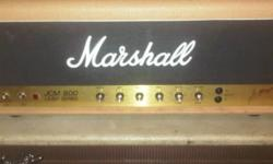 JCM 800 single channel amp. 1984 Fawn. One of the most Bad A$$ amps ever made by marshall. Vert serious sound and colorations. Selling this at a considerably LOW price. a New jcm Is NOT the same as a vintage (vintage sound is better quality in comparison)