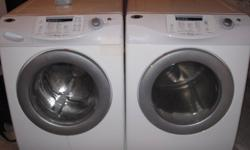 Front loader washer and dryer. Both extra large capacity. Boot rack for dryer. Aprox. 5yrs old
