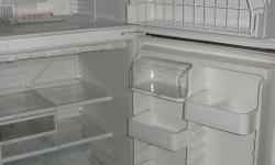"""30""""W x 66""""H white refrigerator in very good working condition. Reason for selling: Update appliances. Price is negotiable."""