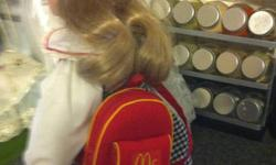 In great condition, very clean. Stamped on the back of her neck. Collectable mcdonalds doll $150 or best offer! Thanks :) This ad was posted with the Kijiji Classifieds app.