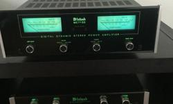 Super clean Mcintosh solid state equipment. C15 pre / mc7150 power amp 7150 comes with original box , manual and warrenty card. 150w/ch into any load ( auto former). Both pieces are in great condition and Sound amazing. Willing to sell as pair or sell the