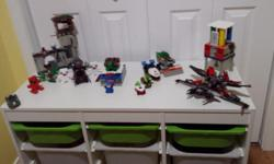 I have closed my daycare doors and want to sell my mega block/lego table/storage with pieces. It is mostly Mega Bloks with several small lego sets purchased mixed in. I can't say if all the pieces are there for the lego as there is no boxes or