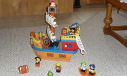 In excellent condition...pirate ship play set...makes different pirate ship sounds and noises too....only $15