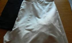 Melanie Lyne Size 16 Dress With Wrap - Brand New Condition, only worn once for Mother Of The Groom Dress - Size 16, dress has been cleaned - Dress is a Champane Colour with Black Belt and Strapless - Wrap is Champane Colour on one side and Black on the