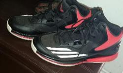 Men's Adidas runners size 10.5 only worn 3 times...son outgrew them too fast. ...paid 140$ looking for 80$