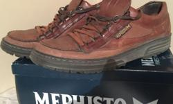 Men's Size 12 MEPHISTO leather shoes. Used. Some wear to heels. MEPHISTO. Worlds finest shoes.