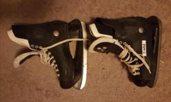 Men's Orbit Skates, Used, Size 8. Obvious signs of wear, however the skates are in good condition otherwise and will work just fine. Nothing broken or torn.