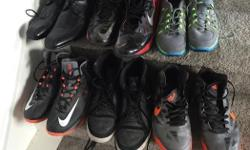 Good shape. Size 9 to 10.5 Nike and Kenneth Cole dress shoes
