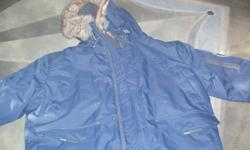 I AM SELLING A WINTER JACKET BY NOIZE - BRAND NEW THE COLOR IS DARK BLUE AND IT IS WATERPROOF ,WIND PROFF AND BREATHABLE. COMES WITH ORIGINAL LABEL IT HAS HOOD WHICH CAN BE REMOVED.THE COLOR IN PICTURE DOES NOT JUSTIFIED. YOU HAVE TO SEE IT